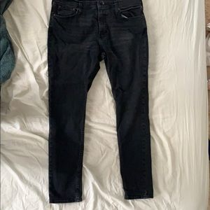 Hollister black acid wash skinny jeans